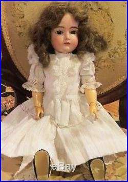 Antique 21 German Bisque Kestner 167 Bisque Doll withCute Outfit