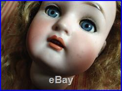 Antique 21 Simon And Halbig K&R Bisque Doll With Compostion Body