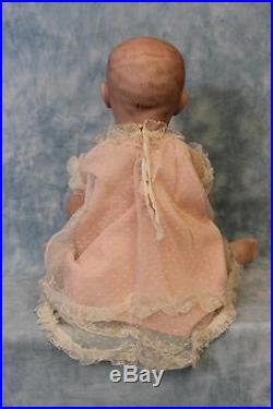 Antique 22 German Bisque Marked 151 Solid Dome Baby Doll Attributed to Kestner