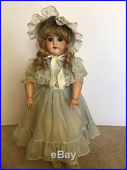 Antique 22 Tall Special 4 Germany Bisque Doll with Composition Jointed Body