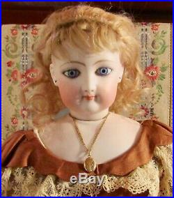 Antique 23 C1875 Closed Mouth Marked FG Fashion Poupee Peau withLovely Old Outfit