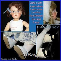 Antique 23 French Early SFBJ Bebe Jumeau Doll on Original Jointed Body Ex Cond