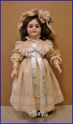 Antique 23 French Jumeau DEP 10 bisque socket head doll