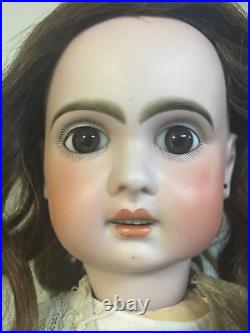 Antique 23French Bisque JUMEAU Doll Incised 1907 With Original French Body