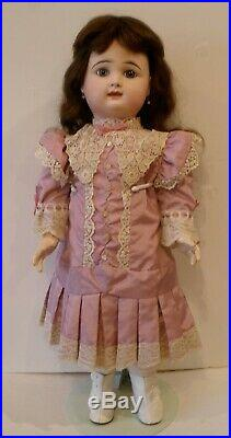 Antique 24 1/2 French Rabery Delphieu closed mouth bisque doll, excellent