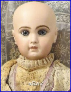 Antique 24 French Bisque Bebe Depose Tete Jumeau Closed Mouth withStraightwrists
