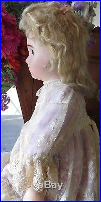 Antique 24 French Bisque Fig A Steiner Bebe Perfect, Great Doll, Body Marked