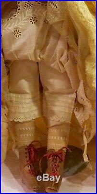 Antique 24 French Fashion Jumeau Portrait Face Doll Poupee Peau