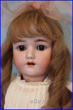 Antique 24 Henrich Handwerck German Bisque Doll with Original Clothes Sleep eye
