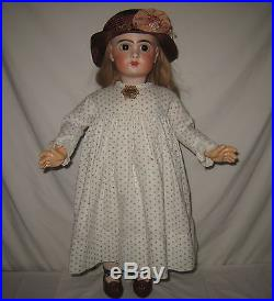Antique 24 Jumeau Bebe French Bisque Socket Head Doll MZ51