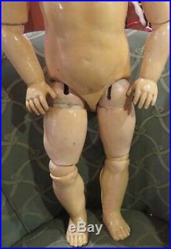 Antique 25 HUGE Kestner Straight Wristed Doll Body withExtra Ball Joints, RARE