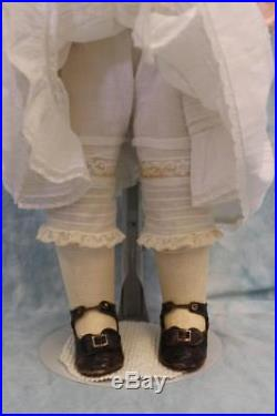 Antique 27-1/2 Inch BRU JEUNE Extraordinary French Bisque Bebe Doll Size 10