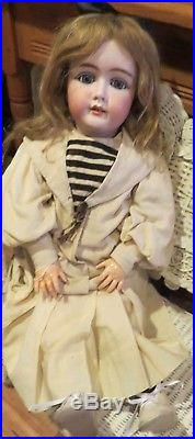 Antique 29 German Bisque Mystery 209 Model N Perfect Doll withOrig Body & Outfit