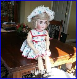 Antique 29German Bisque Armand Marseille Queen Louise Doll #13 with original Body