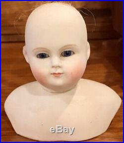 Antique 3 1/4 Extremely Rare Blampoix Fashion Doll Head, Perfect withOrig Wig