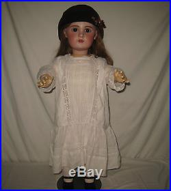 Antique 30 Bebe Jumeau French Open Mouth Bisque Socket Head Doll WOW MJ24