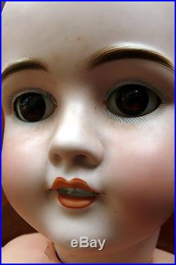 Antique 31 Walkure German Bisque Doll with Pierced Ear, Composition Body