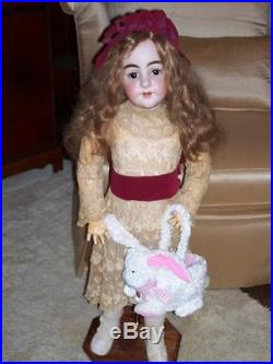 Antique 36 Simon & Halbig Doll #949-Perfect Bisque withComp Body-HUGE Brown Eyes