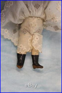 Antique 5.25 German Bisque Doll Swivel Head Marked 13 c. 1900 Closed Mouth
