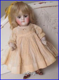 Antique 6 Bisque German Kestner Doll Marked 130 Glass Eyes Painted Shoes