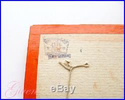 Antique 6 bisque Baby Doll on sample card Hertwig & Co Germany Miniature German