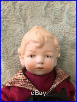 Antique 7 All Bisque Hertwig & Co. Boy and Girl Dolls