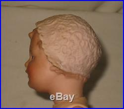 Antique 8.5 Gebruder Heubach Bisque Bonnet Head Doll #7959 RARE MD22