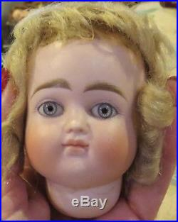 Antique 8 Circumference German Bisque Closed Mouth Pouty Kestner Doll Head