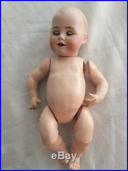 Antique 9 1/2 Bisque Head Baby Doll Kestner JDK Compo Marked Germany Body