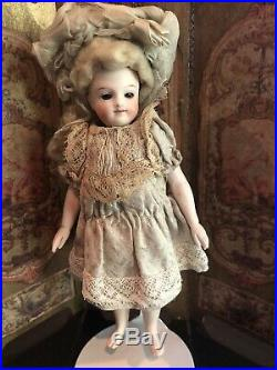 Antique All Bisque Doll Bare Feet 6 1/4 IN Sleep Eyes Marked 2
