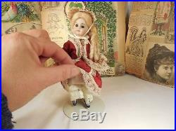 Antique All Bisque Doll Fancy Shoes Glass Sleep Eyes Swivel Neck Kestner