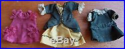 Antique All Bisque Mignonette Doll With Trunk & Clothing Trouseau 3.5 Inches