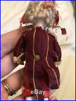 Antique All Original 4.5 All Bisque French Mignonette Doll Two Strap Shoes