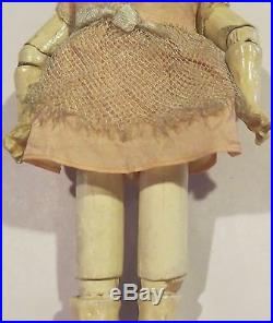 Antique Beautiful German 7 Fully Jointed Doll Body for Antique Bisque Doll
