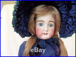 Antique Beautiful Rare Square Tooth Kestner Bisque & Composition Doll, 24