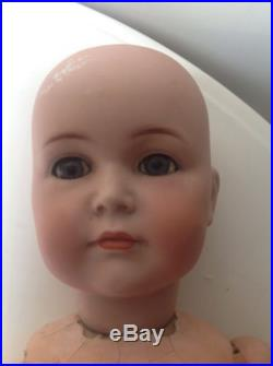 Antique Bisque 24 SIMON HALBIG 117 EARLY VINTAGE JOINTED DOLL