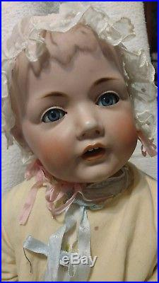 Antique Bisque Doll 17 Circumference Dome Head 22 Jdk Hilda Perfect Bisque