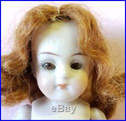 Antique Bisque Doll Germany Marked 257 12 Glass Sleep Eyes Dollhouse Doll