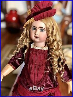Antique Bisque French Doll Jumeau Reclame (Marching Doll)