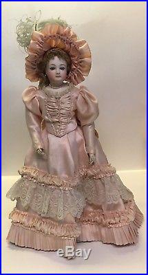 Antique Bisque French Fashion Doll! Leather Body. REDUCED BIN PRICE