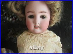 Antique Bisque German Abg 24 Inch Doll Brown Sleep Eyes Composite Jointed Body