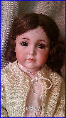 Antique Bisque KR Simon Halbig 117 16 Doll brown glass sleep eyes NO RESERVE