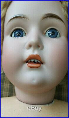Antique Bisque Kestner 171 Large 30 Doll With Jointed Composition Body