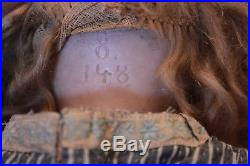 Antique Bisque Kestner Doll Marked 8 148 Old Clothing 20 TLC Beautiful Face