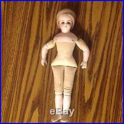 Antique Bisque Porcelain Doll SIMON & HALBIG Signed SAW DUST Body 12 Inch