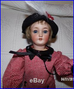 Antique Bisque Simon & Halbig 1159 Flapper Doll 15 with 2 Outfits