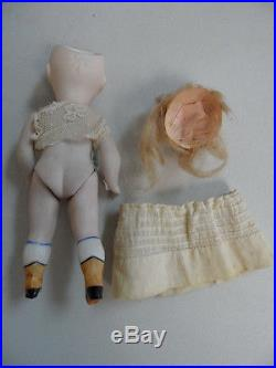 Antique Bisque Victorian Doll Jointed 6H Germany Kestner Prize Baby Doll Exc