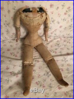 Antique Body For Big French German Fashion Bisque Doll Corset Wasp Waist