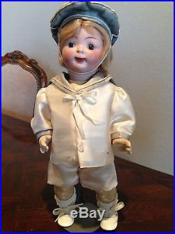 Antique Boy Character Doll 13 Bisque Head, composition body-German or French