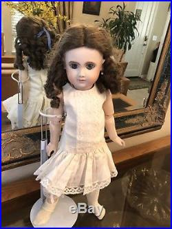 Antique Bru Repro Bisque Head Real Seely Composition Body. Doll By Artist M. Gale